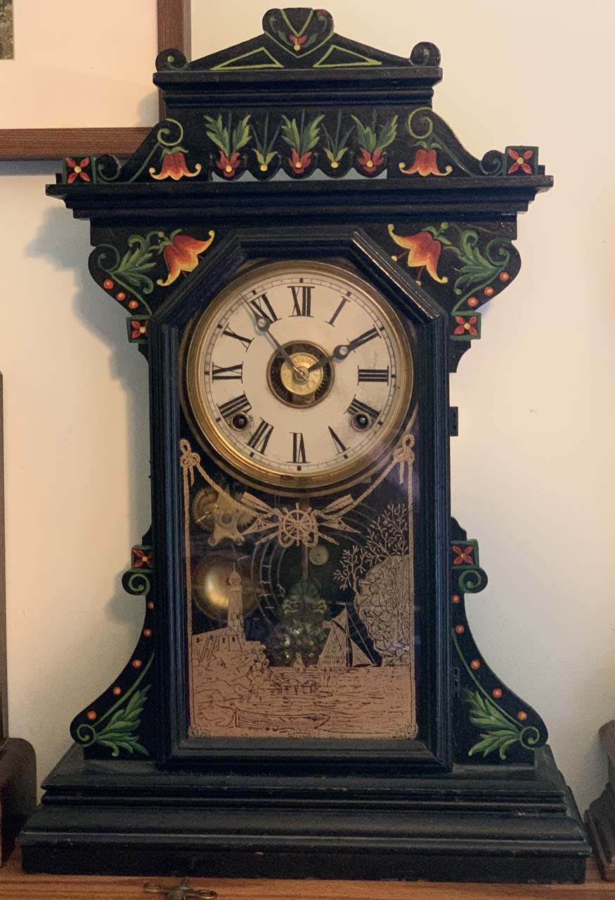 Painted clock with alarm Image